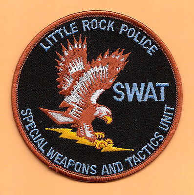 X26 * Swat Little Rock Arkansas Spec Operations Team Police Patch Fbi Dea Atf