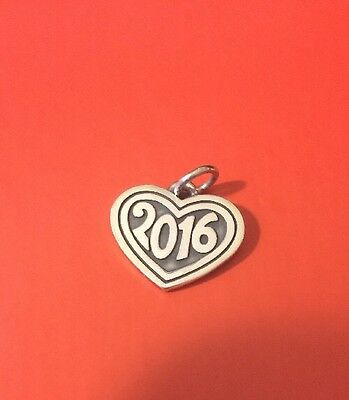 James Avery *new* Sterling Silver Retired 2016 Heart Love Memory Charm / Pendant