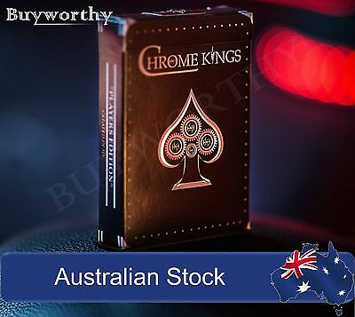 CHROME KINGS Playing Cards Deck Designed in 3D Players Edition by De'vo vom NEW