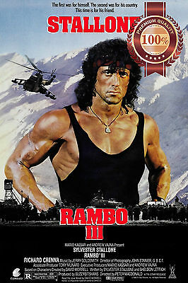 NEW RAMBO III 3 THREE STALLONE 1988 80s OFFICIAL ORIGINAL PRINT PREMIUM POSTER