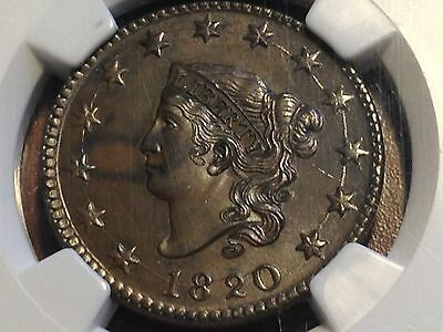 1820 Large Cent NGC MS62BN Great for Grade FUN Show Purchases CHN!