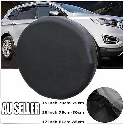 16 Inch Black Spare Tire Cover Wheel Tyre PVC Leather Covers  All Cars 76~80cm