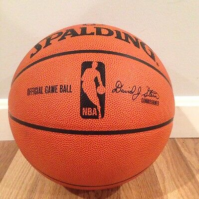 Official Spalding Leather NBA Game Basketball - David Stern. New Condition