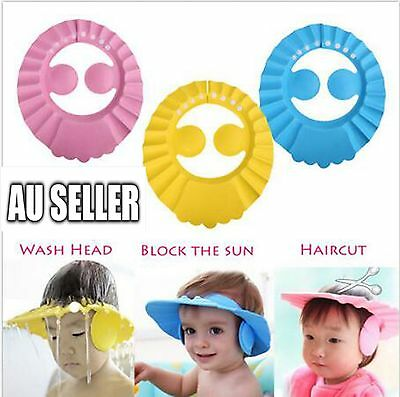 Adjustable Child Kid Baby Shower Cap Bathing Cap Washing Hair Hat Waterproof