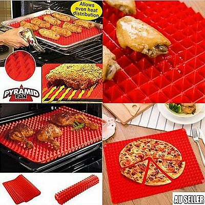 2017 Non-stick Silicone Pyramid Pan Baking Mat Mould Cook Sheet Oven Liner Tray