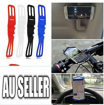 Silicone Elastic Bicycle Motorcycle Bike Handlebar Mount Holder For Mobile Phone