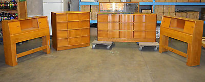 Vintage Heywood Wakefield Sculptura 5pc Bedroom Set Westwood 1962-66 Rare Signed