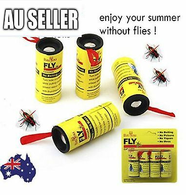 20 Rolls Sticky Fly Trap Paper Yellow Traps Fruit Flies Insect Glue Catcher 2017