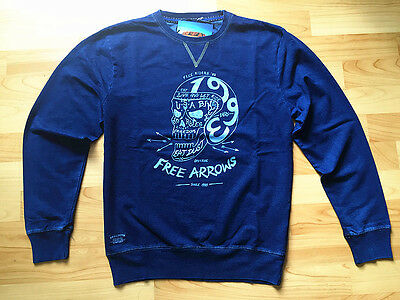 Men's Knitting  Jeans Casual Crew Neck Jumper Sports Pullover Fleece Sweater Top