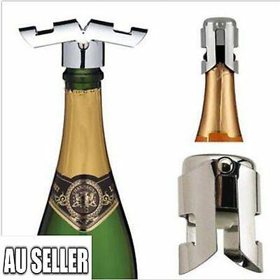 5XPractical Stainless Steel Champagne Stopper Sparkling Wine Bottle Plug Sealer