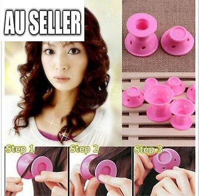 Fashion 10x Novelty Women Hair Curlers Roller Soft Rubber DIY Cosmetic Tools
