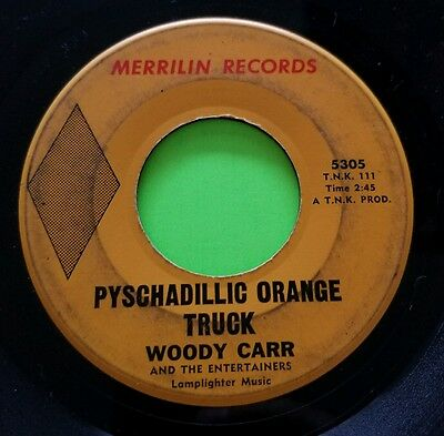"""Woody Carr & Entertainers - Psychadillic Truck NW Garage Psych 7"""" 45 Record RARE"""
