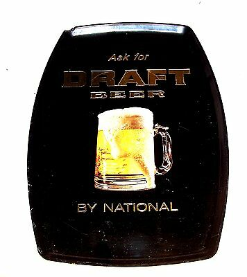 Vintage Draft Beer By National Plastic Wall Beer Sign Tray VG Light Sign Can Ofr