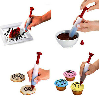 Silicone Cake Pen DIY Pastry Cookie Decorating Cream Syringe Pen Baking Tool E