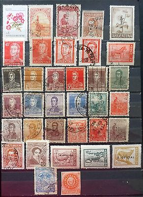 ARGENTINA  Lot of 35 different OLD STAMPS    Lot #10