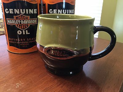 Flsts Heritage Springer Coffee Mug Green Silver Limited Licensed Harley Davidson