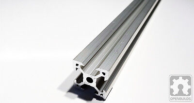 Quantity of 4 x 20mm x 20mm Silver Aluminum Linear Rail 1000mm or 1500mm long