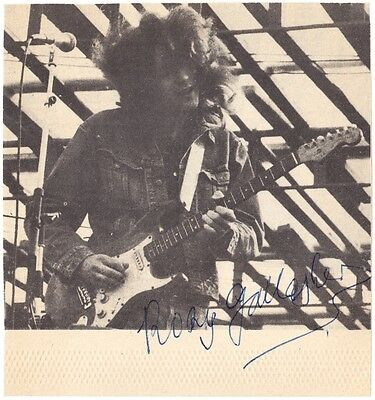 RORY GALLAGHER Picture GUITARIST Bullfrog Blues Moonchild Irish Autograph SIGNED