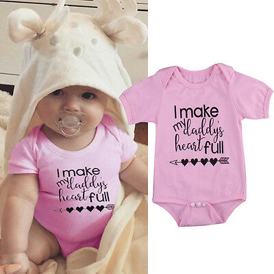 USA Newborn Infant Baby Girls Cotton Bodysuit Romper Jumpsuit Outfits Clothes