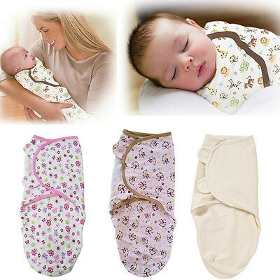 USA Stock Newborn Baby Infant Soft Swaddle Wrap Swaddling Blanket Sleeping Bag