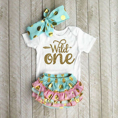 US Stock Newborn Baby Girls Outfit Clothes Romper Jumpsuit Bodysuit+Pants/Shorts