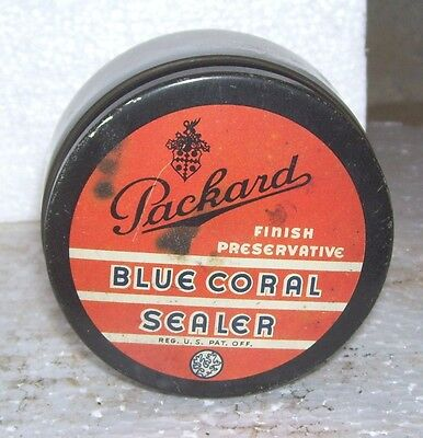 Vintage Packard  Blue Coral can -- very  rare