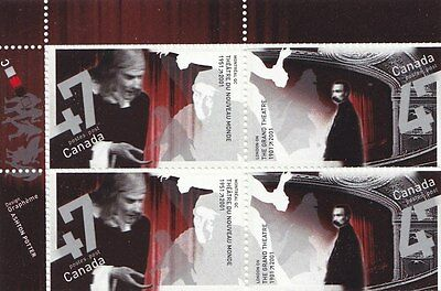 """Canada, 2001, """"theater Anniversary"""" Block Of 4 Stamp = 2 Set Mint Nh"""