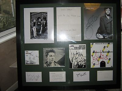"THE SMITHS - ORIGINAL SIGNED ONE-OFF ""To Wayne"""