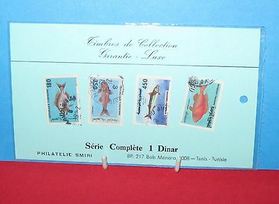 Cat Charity Auction 4 Sealed Complete Series of Tunisian Stamps