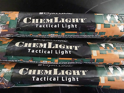 Pack of 4 RED Cyalume Chem-light,  Snap-light, Glow-stick,Military Grade 12 HOUR