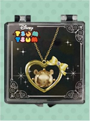 Disney Tsum Tsum Winnie The Pooh Heart Jewel Necklace Rare Limited Japan