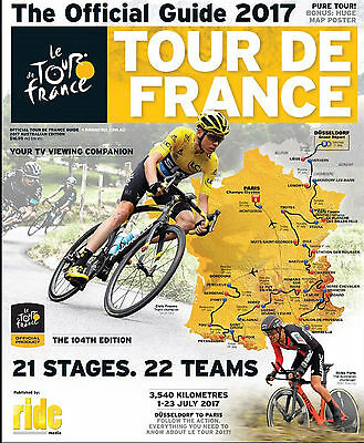 2017 TOUR DE FRANCE Official Race Guide + Giant Map Poster Australian Ed - NEW