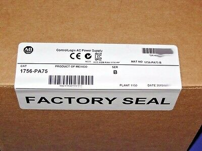 FACTORY SEALED Allen Bradley 1756-PA75 /B AC Power Supply ControlLogix  # 2