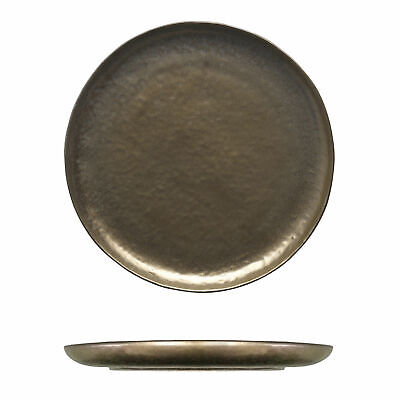 12x Tablekraft Vilamoura Metallic Bronze Round Plate, Coupe 275mm