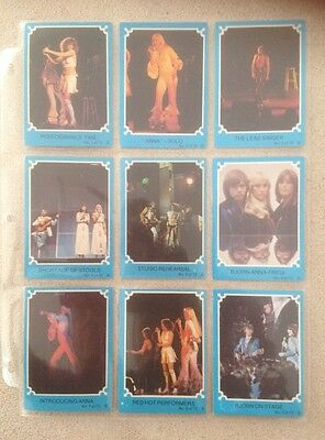 "1976 Scanlens ""ABBA - Series B (Blue Set)"" - Complete Set of 72 Cards - NM+"