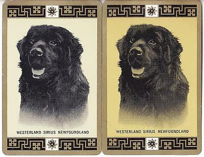 DOGS  #F7d    2 Single Swap Playing Cards.