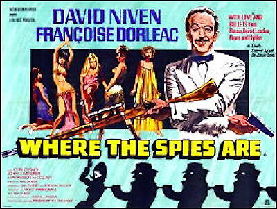 "16mm Feature ""wHERE THE SPIES ARE"" (1966) David Niven Françoise Dorleac"