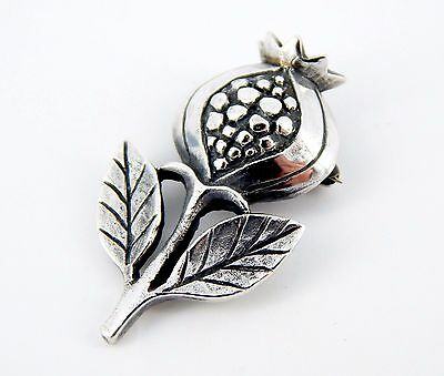 RARE Retired 1970's James Avery Sterling Silver Pomegranate Pin Brooch