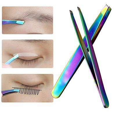 Brow Trimmer False Eyelash Tweezers Face Hair Removal Colorful Eyebrow Clip