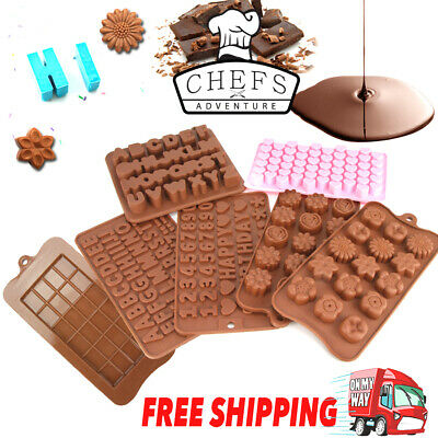 3D Silicone Mold Chocolate Heart Alphabet Number Flower DIY Tools Mould Handmade
