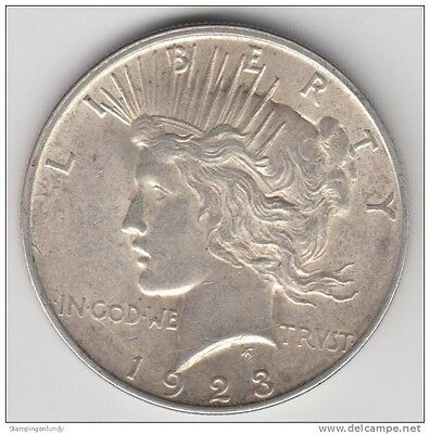 1923 United States 'PEACE' Silver Dollar