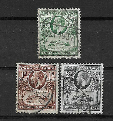 Gold Coast , 1928 , King George V , Set Of 3  Stamps , Perf , Used