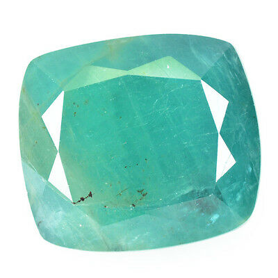 Rare Gems Stone Collection  Apple Green Grandidirite 9.32 Ct Cushion Cut