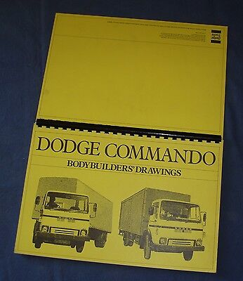 Dodge Commando Bodybuilders' Drawings - 1981 - 104 Pages - Very Good Condition