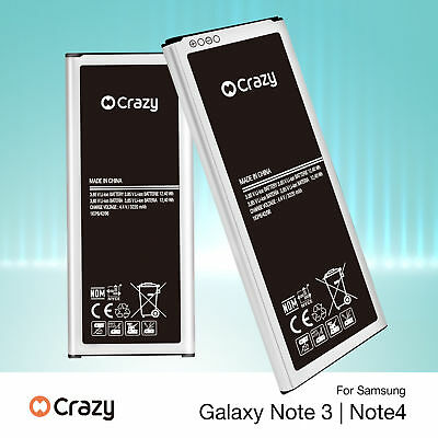 New Genuine Crazy Replacement Battery For Samsung Galaxy Note 4 3 N9100 N9000