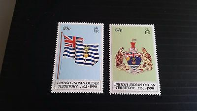 British Indian Ocean Territory 1990 Sg 108-109 25Th Anniv Of Territory Mnh
