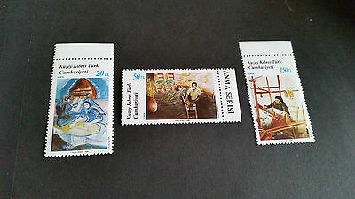 Turkish Cyprus 1988 Sg 225-227 Paintings (7Th Series) Mnh