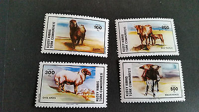 Turkish Cyprus 1985 Sg 168-171 Domestic Animals Mnh