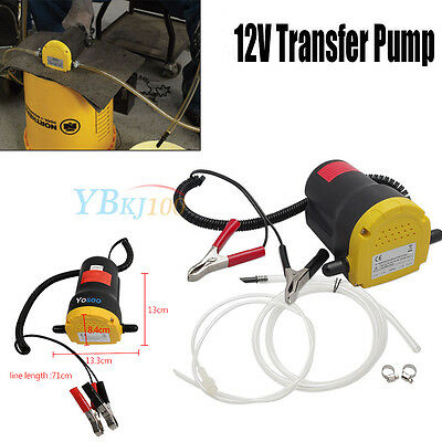 12V DC Mini Electric Transfer Pump Extractor Oil Fluid Diesel Car Motorbike New