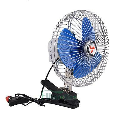 8 pulgadas 12V Portable Dashboard Vehículo de coches Auto Cooling Fan Clip-on ES